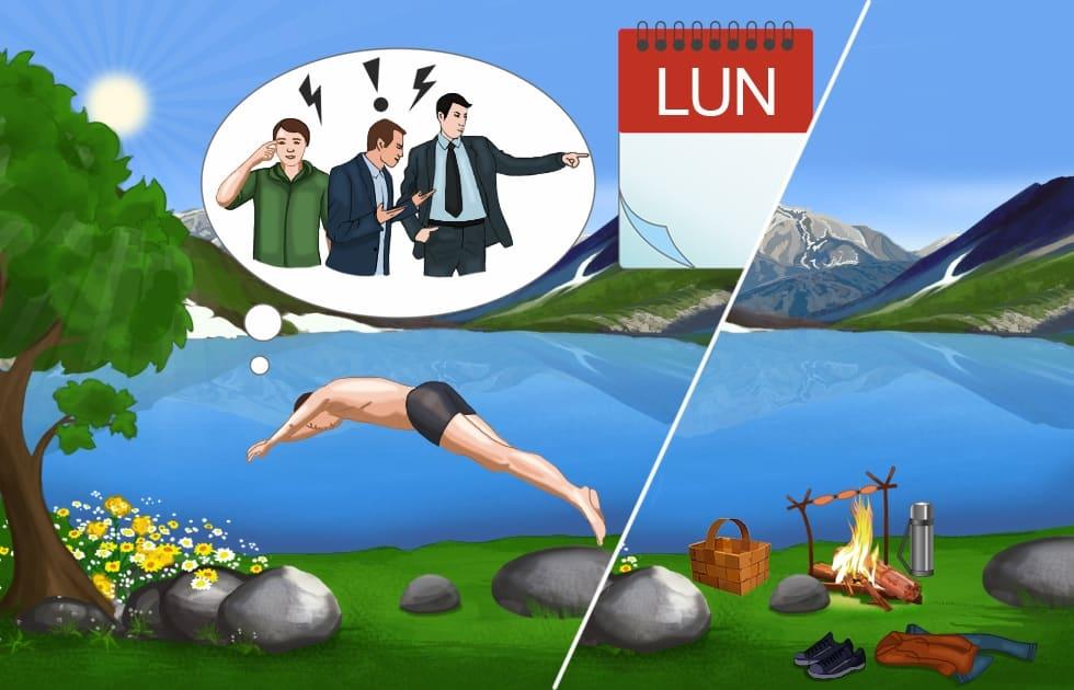 Schnell Französisch lernen: Lundi - Montag - Wochentage