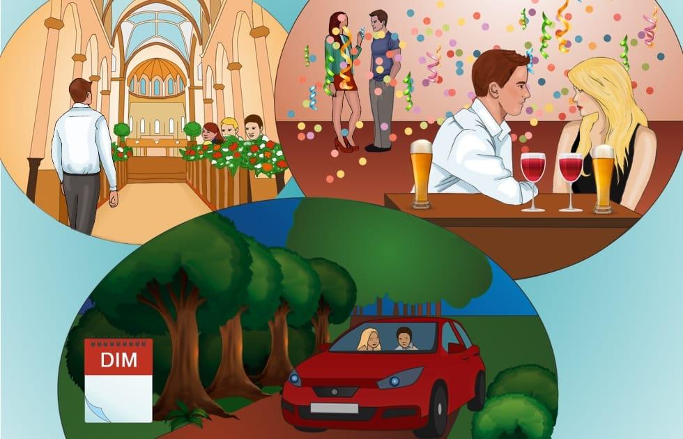 Online Französisch lernen: Dimanche - Sonntag - Wochentage